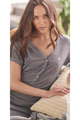 Koszula nocna dla kobiety ciężarnej z serduszkiem