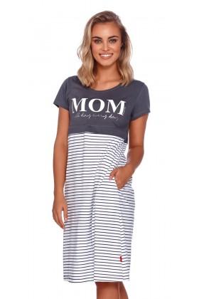 Mom - grafitowa koszulka z ekspresem pod biustem