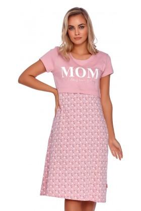Mom - różowa koszulka z ekspresem pod biustem
