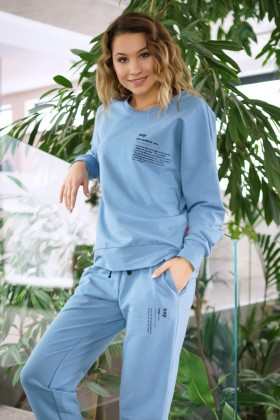 Woman's cotton blue joggers