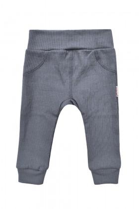 Szare spodenki niemowlęce z prążkowanej bawełny