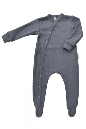 Newborn grey baby sleepsuit