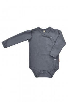 Newborn grey cotton bodysuit