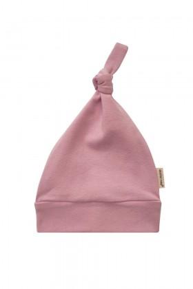 Różowa czapeczka niemowlęca z delikatnej bawełny