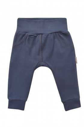 Newborn blue baby pants, joggers