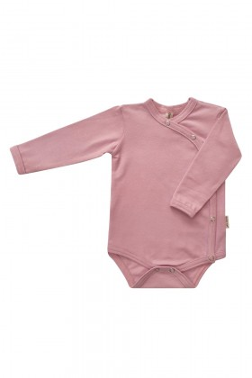 Newborn pink cotton bodysuit
