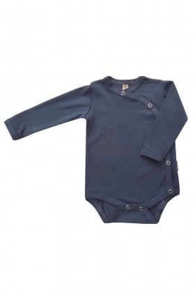 Newborn blue cotton bodysuit