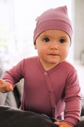 Newborn pink cotton bodysuit