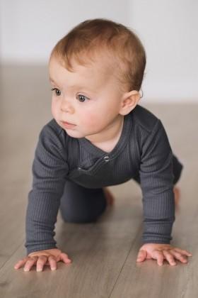 Newborn grey baby sleepsuit