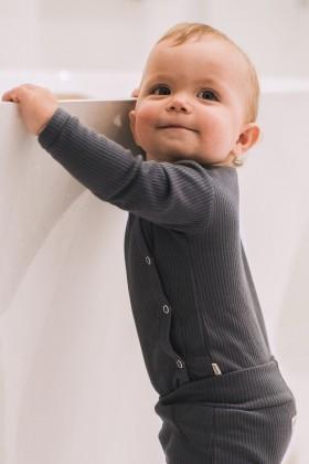 Newborn grey cotton bodysuit