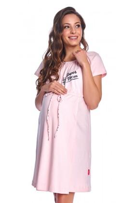 Różowa koszula nocna dla kobiet w ciąży II GATUNEK