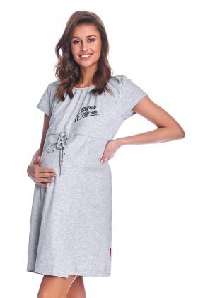 Szara koszula nocna dla kobiet w ciąży II GATUNEK