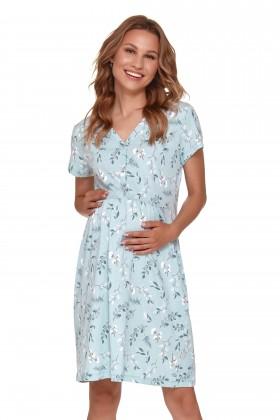 Błękitna koszula dla kobiet w ciąży i mam karmiących w...