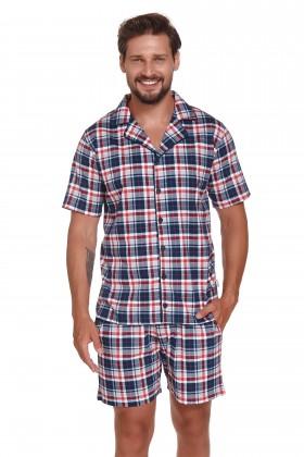 Elegancka piżama męska w krateczkę
