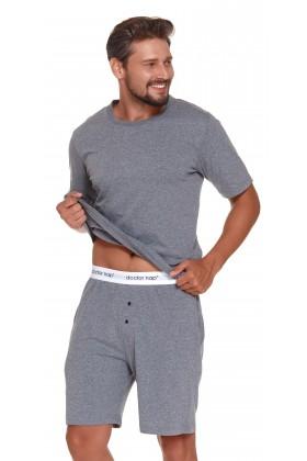 Męska szara piżama z gumą Doctor Nap