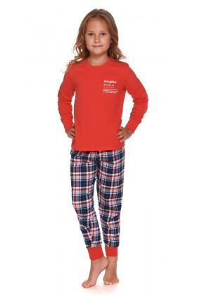 Daughter - Czerwona dziecięca piżama ze spodniami w kratę