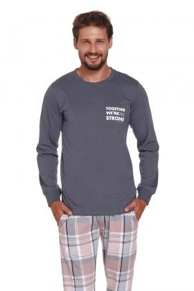 Męska piżama ze spodniami w kratkę