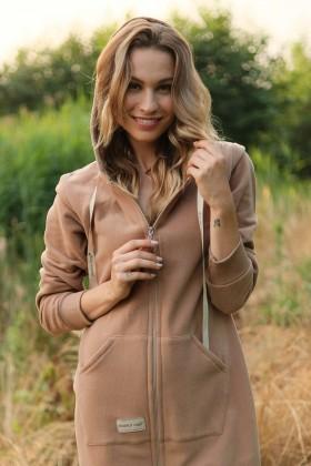 Szlafrok typu homewear z bawełny organicznej Wood