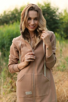 Women's organic cotton dressing gown