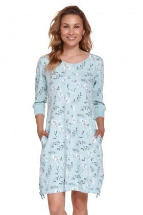 Błękitna koszula dla kobiet w eukaliptusy