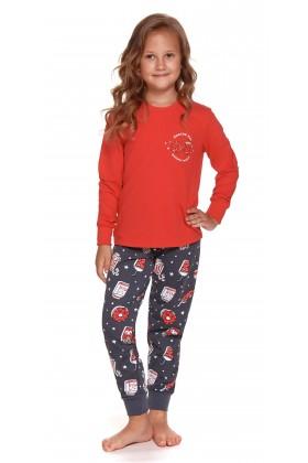 Czerwona dziecięca piżama z nadrukiem - unisex