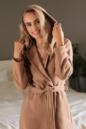 Brown woman's  cotton warm robe