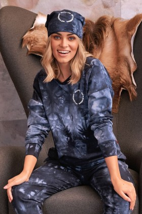 copy of Women's two-pieces navy tracksuit tie-dye