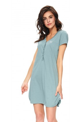 Maternity nursing breastfeeding light green nightdress