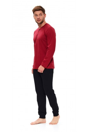 Mens pyjama modern set with buttons