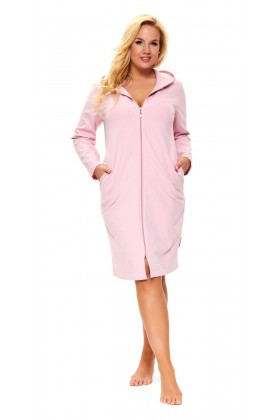 Women's dressing gown, pink cotton