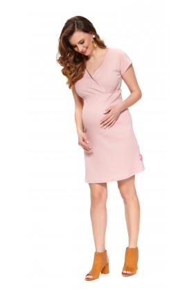Różowa sukienka z wycięciem na plecach