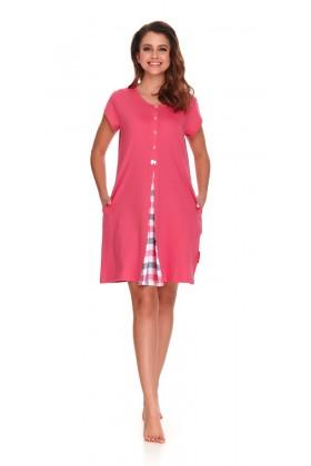 Różowa koszula nocna dla kobiet w ciąży i karmiących