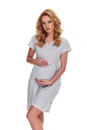 Koszula nocna dla kobiet w ciąży i karmiących w paseczki