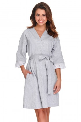 Woman's  grey robe with lace