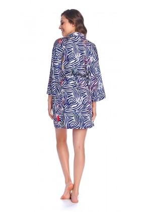 Silk satin kimono robe