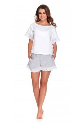 Biała koszulka z koronką