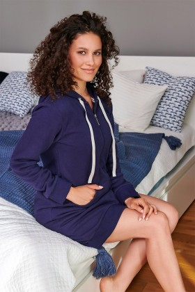 Women's dressing gown, navy...