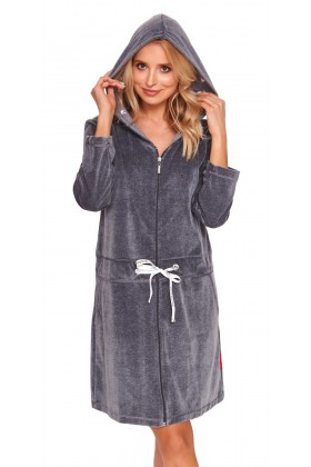 Dark grey velvet robe