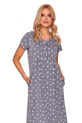 Women's maternity & breastfeeding nightdress extra long
