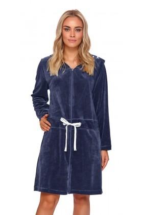 Navy velvet warm robe