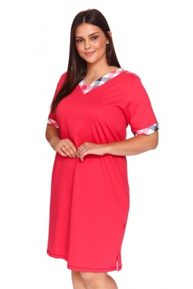 Womens night dress plus size with chackered