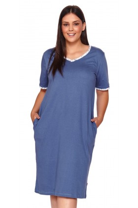 Womens blue nightdress plus...