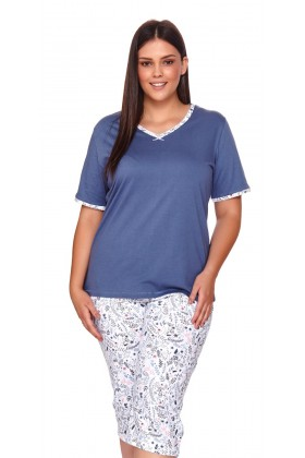 Womens blue pyjama plus size