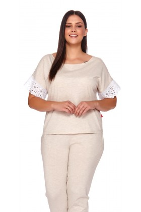 Women's pyjamas with white lace