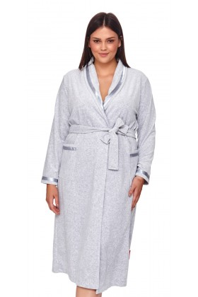 Light grey velvet robe