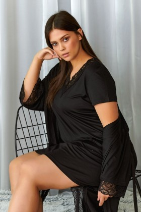 Modal black nightdress