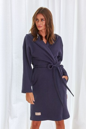 Woman's organic cotton warm robe