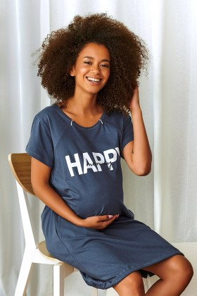 Happy Mommy women's maternity nursing breastfeeding deep...