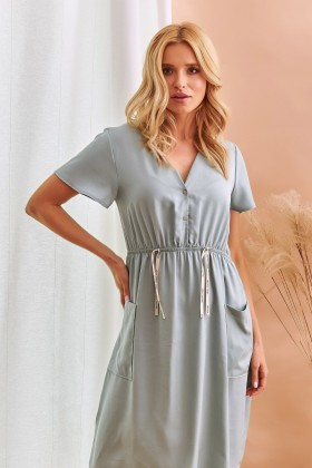 Women's tencel maternity nightdress