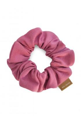 Różowa frotka do włosów z...